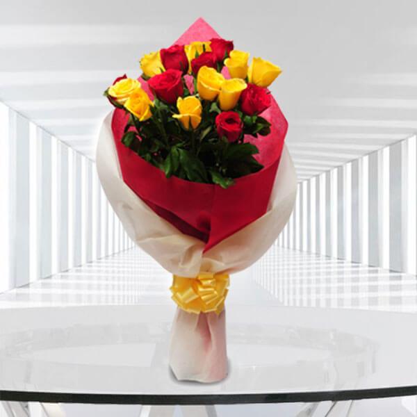 Big Hug 9 Red and 9 Yellow Roses