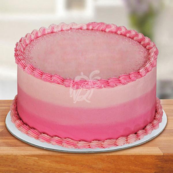 Round Strawberry Top Cake Online