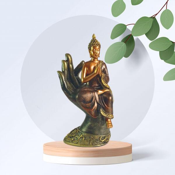 Buddha Palm Idol Statue