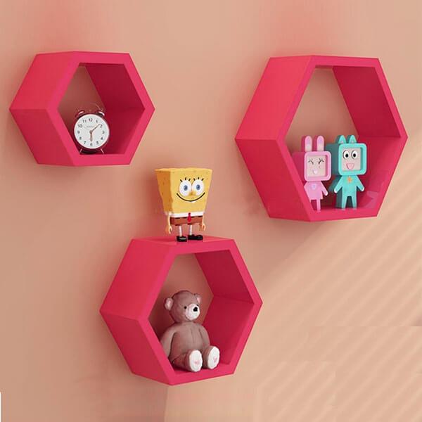 Pink Diamond Separator Wall Shelf