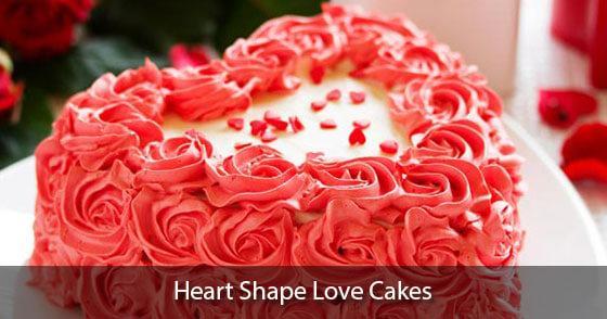 Online heart shape cakes